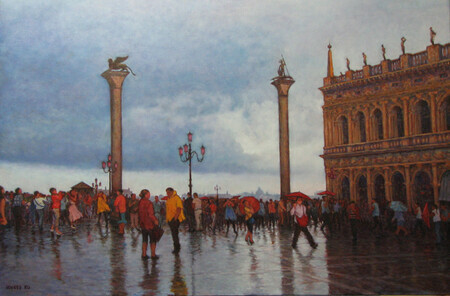 A Rainy Day in San Marco Square
